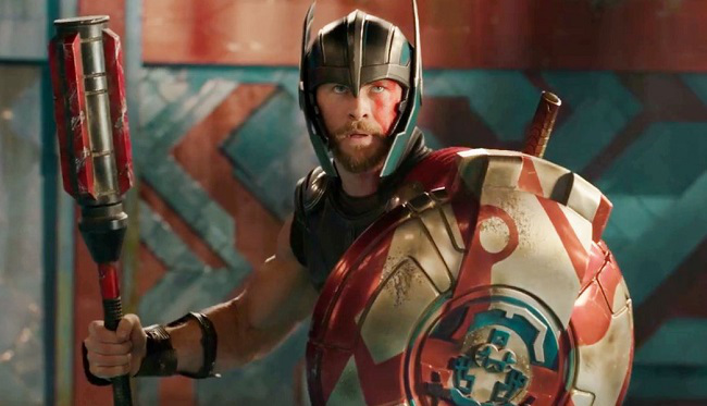 "Disney-Marvel's ""Thor: Ragnarok"" has topped the international box office with $107.6 million"