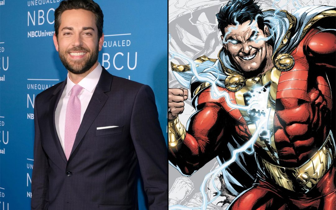 "Zachary Levi will play the DC's character ""Shazam!,"""