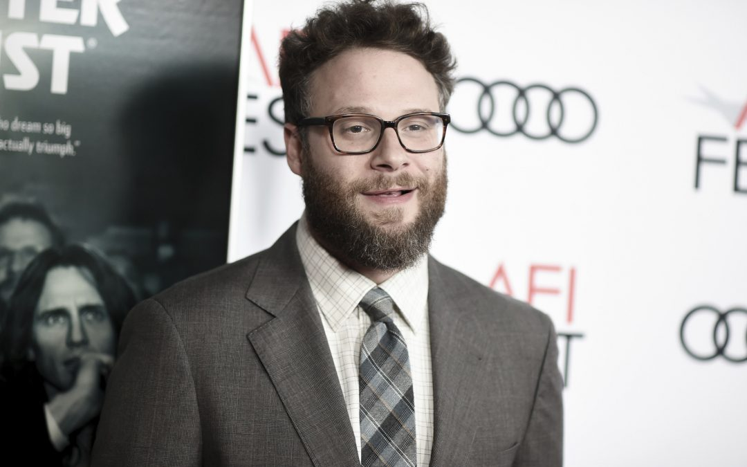 "Seth Rogen plays legendary anchor Walter Cronkite in the upcoming film ""Newsflash,"""