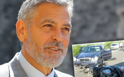 George Clooney involved in Bike Accident