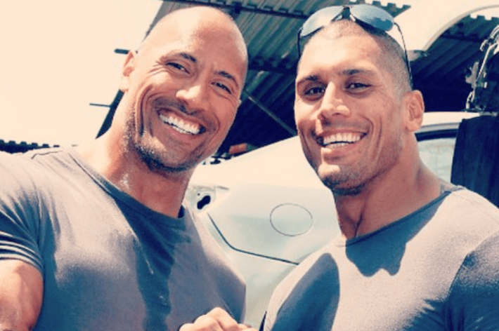 Dwayne Johnson surprisesstunt double and cousin Tanoai Reed with a custom truck